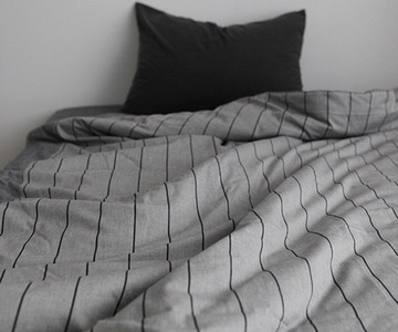 GREY STRIPE BEDDING